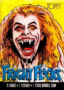 Topps Fright Flicks Fright Night 1985 Amanda Bearse Package