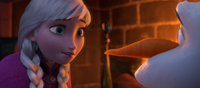 Anna realizes Olaf is melting
