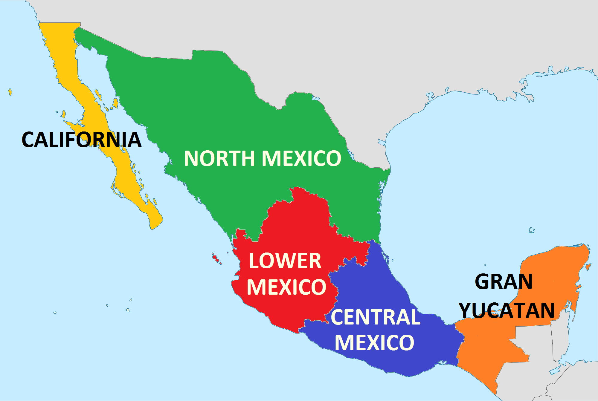 States In Mexico Map Mexico Map - Us and mexico map with states