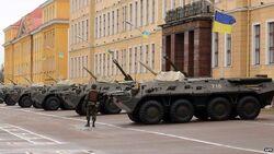 Ukrainian soldiers in Kiev