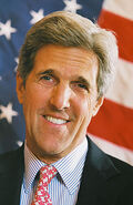 John Kerry US flag