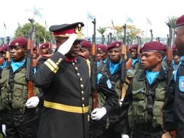 Joseph Khamisi and troops