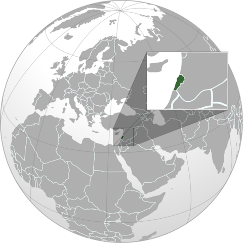 File:Map of Lebanon (orthographic projection).png