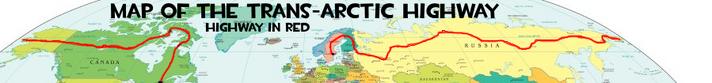 Trans arctic highway