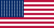 US flag 81 Star Expanded Field Flag
