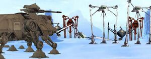 AT-TEs Facing the Martian Machines in Hoth