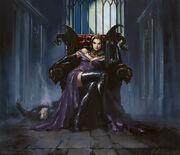 Liliana on Throne