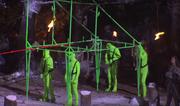 Mammoth greenscreen rig