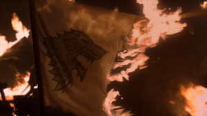 Mhysa burning stark banner