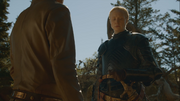 Jaime talking with brienne