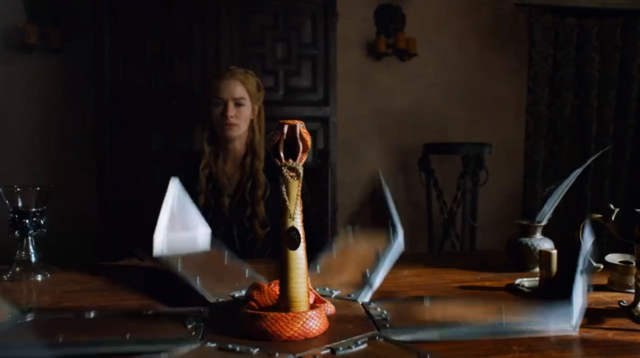 File:Sand Snakes send Cersei Myrcella's lion pendant.png