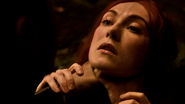 Stannis and Melisandre choke 2x10