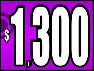 $1,300