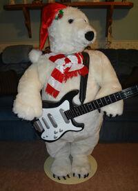 Life size rocking polar bear gemmy wiki fandom powered for Animated polar bear christmas decoration