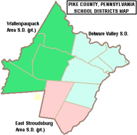Map of Pike County Pennsylvania School Districts