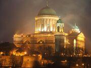 Esztergom bazilika lights