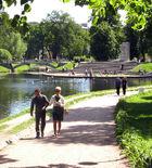 Tauride garden (Spb) Bridge lake obelisk