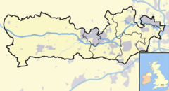 Berkshire outline map with UK