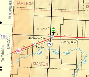 Map of Stanton Co, Ks, USA