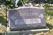 Gerald Langejans headstone Yorkville Cemetery (MI)