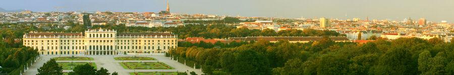 Schloss schoenbrunn hdr panorama