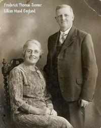 Jenner, Frederick Thomas & wife Lillian Maud England
