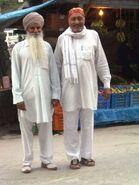 2 friends - a Sikh & a Gaddi, Manikaran, 2004