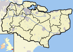 Kent outline map with UK