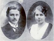 Jonas Leo Olsson (1885-1918) and Sigrid Katarina Sundin (1897-1986) circa 1917