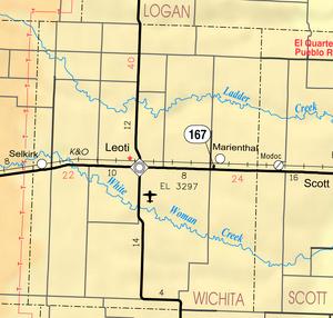 Map of Wichita Co, Ks, USA
