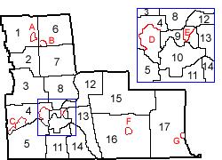 Broome county ny map
