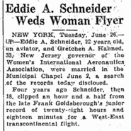 Schneider Hahnen 1934 marriage AssociatedPress