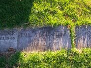 Grave of Emil A. Schneider, Fairview Cemetery 100 0913