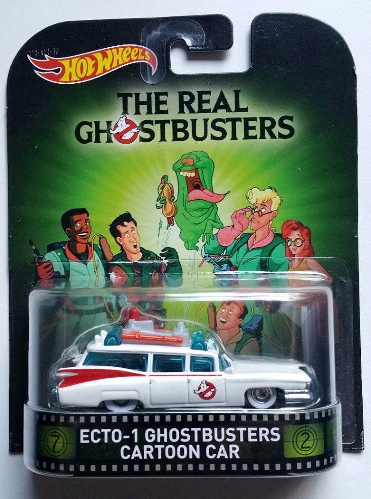 Hot Wheels Ecto 1 Ghostbusters Cartoon Car Ghostbusters