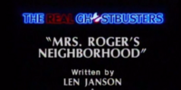 Mrs. Roger's Neighborhood