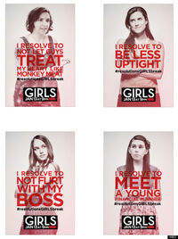 Girls season 2 posters resolutions