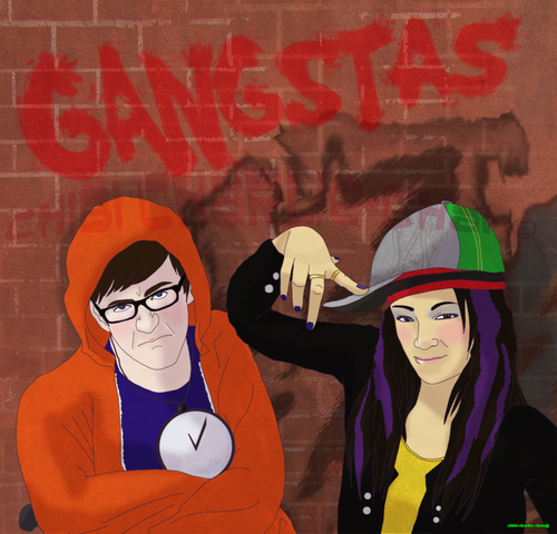 File:Glee Gangstas yo by chibiCharlie chan.png