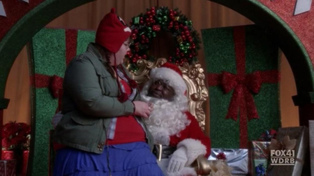 File:A Very Glee Christmas - Lauren and Santa.jpg