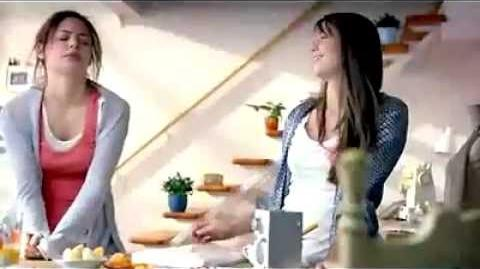 Melissa Benoist at commercial for Clean & Clear - Wakin' Up to Love