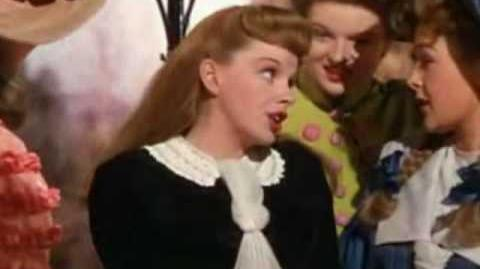 JUDY GARLAND 'THE TROLLEY SONG'. A CLOSEUP