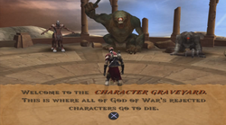 Character graveyard