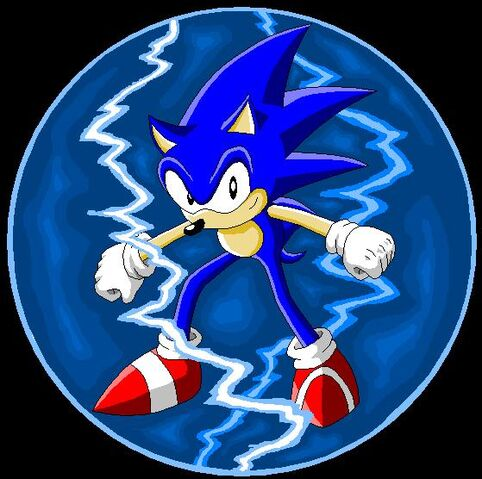File:Sonic With Lightning Shield by Kryptid.jpg