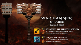 War hammer of ares level 5 req