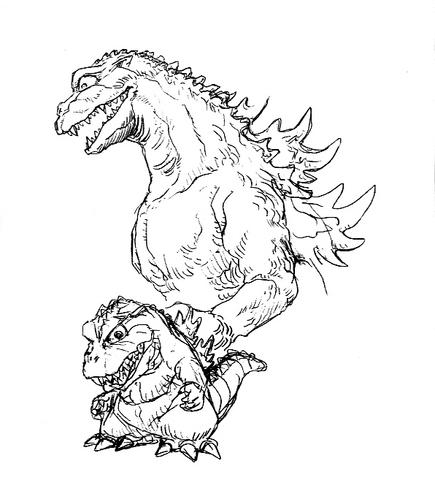 File:Concept Art - Godzilla 2000 Millennium - Godzilla 12.png
