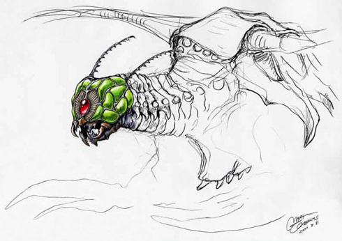 File:Concept Art - Godzilla vs. Megaguirus - Megaguirus 3.png