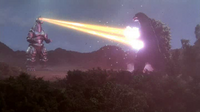 MechaGodzilla 2 firing eye beams