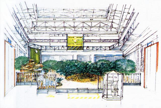 File:Concept Art - Godzilla vs. MechaGodzilla 2 - Baby Godzilla Area.png