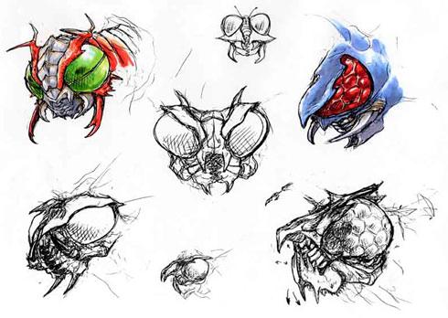 File:Concept Art - Godzilla vs. Megaguirus - Megaguirus 1.png