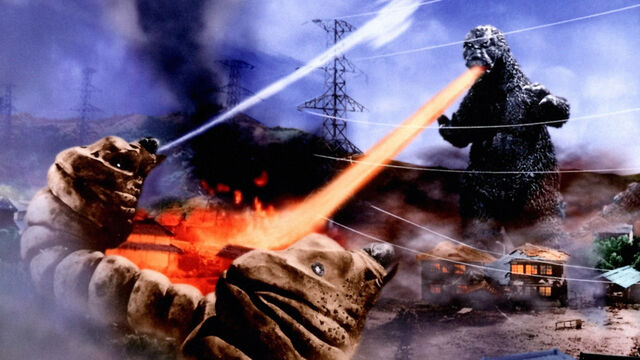 File:Mothra vs. Godzilla promotional art with Larvae and MosuGoji.jpg