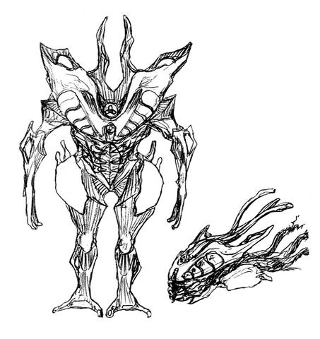 File:Concept Art - Godzilla 2000 Millennium - Orga 45.png